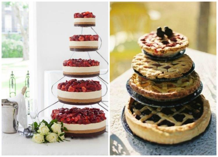 Gâteau de mariage sous forme de tarte ou de cheese cake