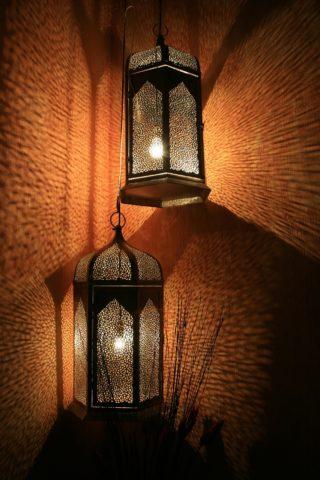 La lampe dans les recoins