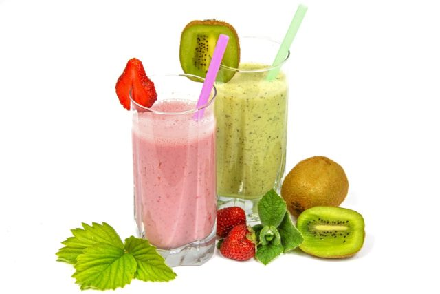 Smoothies de fruits et légumes