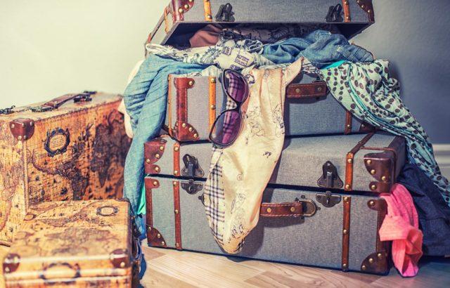 Les bagages pour un voyage famillial