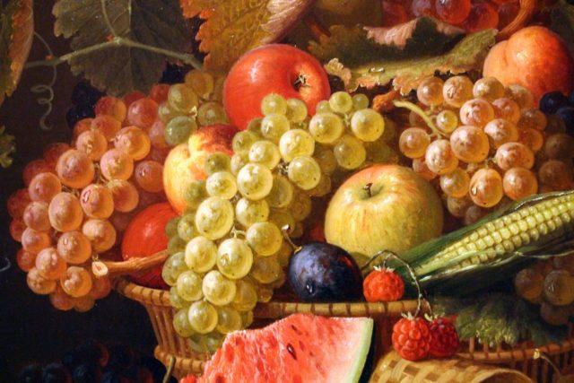 Tableau hyperréaliste de fruits