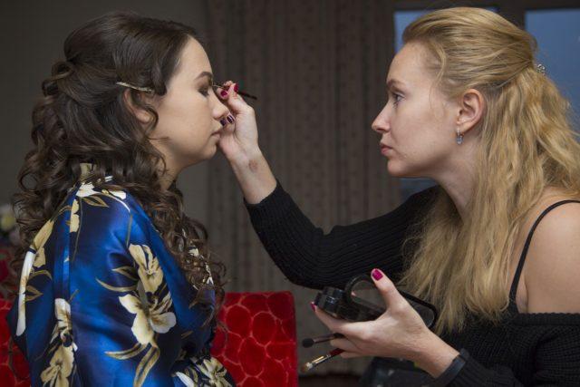 Essaie pour le maquillage de mariage