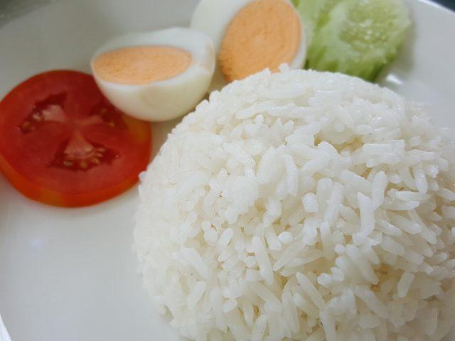 Riz blanc bien cuit