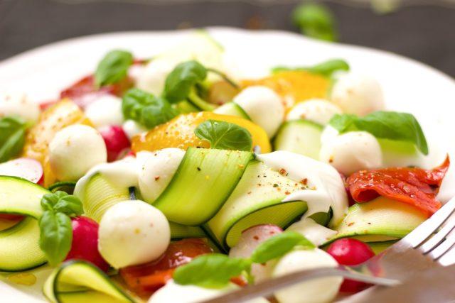 La salade de courgette