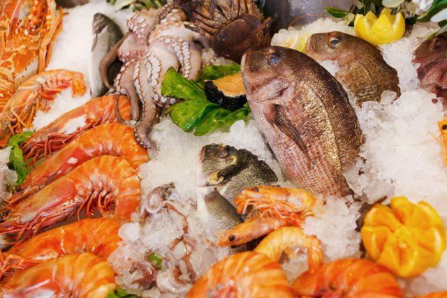 Aliment à congeler : poissons et fruits de mer
